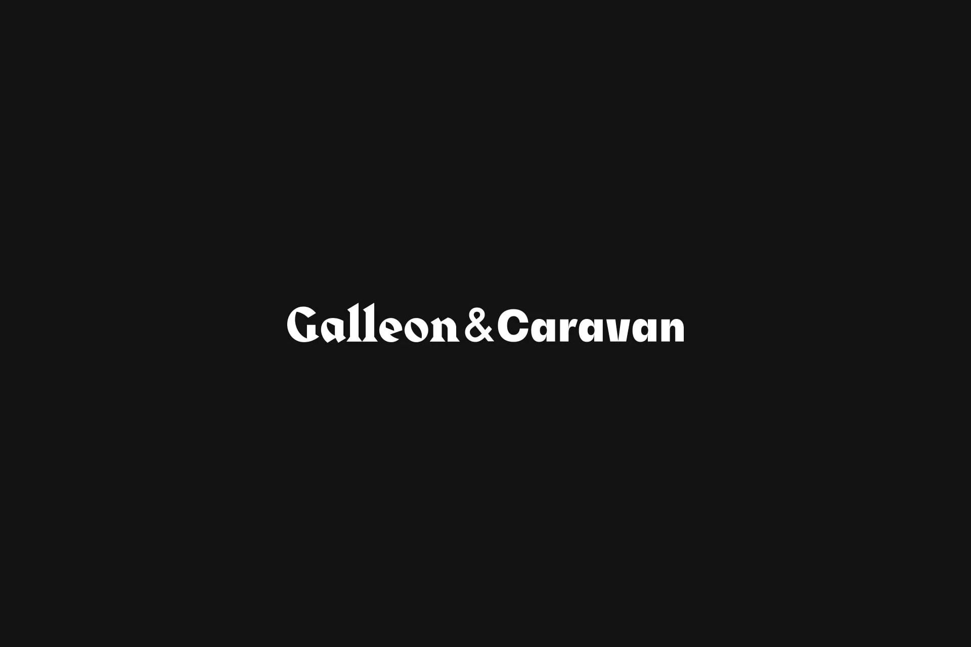 galleon caravan